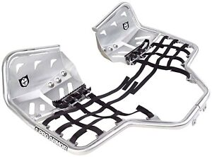 Pro Armor Fat Peg Nerf Bars with Heel Plates Brushed Guards Honda TRX 450R 450ER