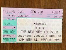 1993 NIRVANA NEW YORK COLISEUM TICKET STUB KURT COBAIN DAVE GROHL IN UTERO 2