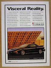 1997 Pontiac Firebird Trans Am RAM AIR V8 black car photo vintage print Ad