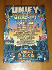UNIFY - 2017 AUSTRALIAN TOUR - PROMO LAMINATED POSTER - NEW
