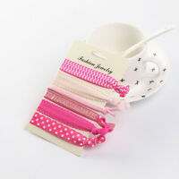 Elastic Hair Ties Creaseless Ponytails Holder Bands Bracelet-Assorted Set of 6