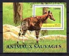 Animaux Okapi Guinée (53) bloc oblitéré
