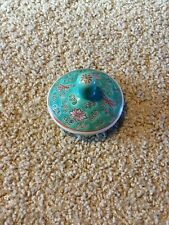 REPLACEMENT LID FOR CHINESE TEAPOT TURQUOISE ROSE FAMILLE