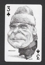 Leonid Brezhnev Russia USSR CCCP 1973 Political Playing Card issued in Spain