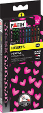 12 Quality Pencils in Blackwood. Fabulous Heart Print.