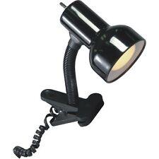 BLACK  CLIP ON DESK LAMP OFFICE DORM BEDROOM DESK