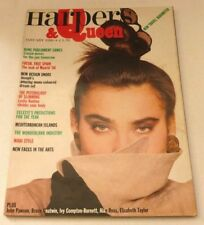 Harpers and Queen - January 1986    VINTAGE WOMENS MAGAZINE