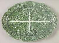 "Bordallo Pinheiro CABBAGE GREEN 17 1/4"" Oval Serving Platter 2627531"