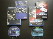 LOT 2 JEUX Sony PLAYSTATION 2 PS2 : STAR TREK CONQUEST + VOYAGER ELITE FORCE