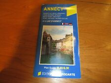 ANNECY Map - Plan Guide Blue & OR - French Map