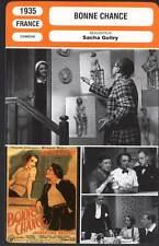 BONNE CHANCE - Guitry,Delubac,Carton (Fiche Cinéma) 1935 - Good Luck