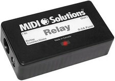 Midi Solutions Relay MIDI powered, program to open or close in response to MIDI