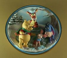 Wonderlit Winter with Winnie Pooh FRIENDS ARE SHELTER ON THE COLDEST DAYS Plate