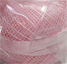 Lizbeth Cordonnet 100% Egyptian Cotton Thread -Size 20 Color 619 Baby Pink