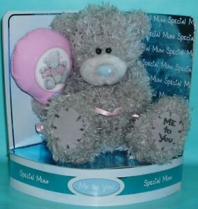 """Me To You Tatty Teddy Grey Bear 6"""" Holding Balloon Special Mum/Mothers Day Gift"""