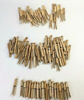 Wooden Clothes Pins~Clothespins~Lot of 111~Vintage~Laundry~Round~Clip~Crafts~