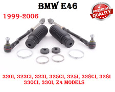 BMW E46 Z4 Left & Right Steering Tie Rod Assembly With Steering Boot Kit SET