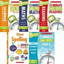 Scholastic 10-minute SATs Tests for Year 6 (age 10-11) Set of 4 Books