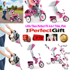 PINK GIRL Little Tikes Baby Perfect Fit 4-in-1 Trike Tricycle comfort safety