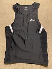 Mens ZOOT Cycling Tri Suit Sleeveless Black Triathlon Singlet Jersey XL