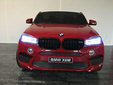 Voiture électrique enfant BMW X6 - 2 places - rouge métal