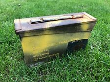 British Army Ammunition Ammo Box 30 Cal Metal Tool Storage Used Military Surplus