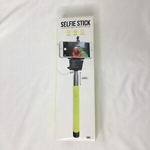 Gems Selfie Stick Telescoping Handle with Shutter Button Green New