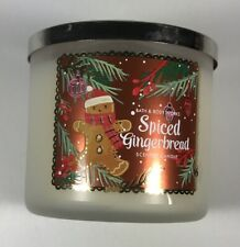 Bath & Body Works Spiced Gingerbread Scented Candle - Three Wicks- New