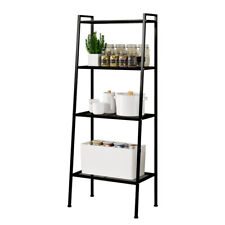 4 Tier Ladder Shelf Bookshelf Bookcase Storage Display Leaning Home Office Decor