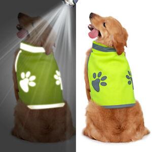 Dog Safety Reflective Vest Pet Jacket for Hunting High Visibility Hi Vis S-2XL
