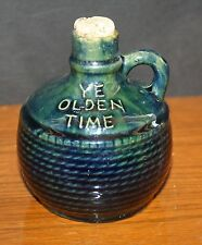 "Antique ""Ye Olden Time"" Ceramic Jug Moonshine Jug 5""  Handmade RARE"
