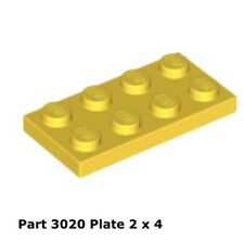 Lego 3020 1x Yellow Plate 2 X 4  7133