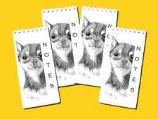 Chihuahua Smooth Coat Dog Pack 4 Small Slim Notepad Jotter Memo Pad Gift Set