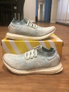 Adidas Ultra Boost Uncaged Parley Coral Bleaching Light Blue White CP9686 Size 9