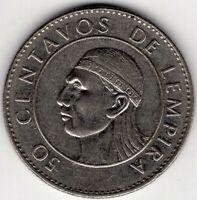 1991 HONDURAS FIFTY 50 CENTAVOS DE LEMPIRA NICE COIN