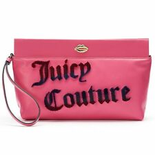 NWT Juicy Couture Flocked Clutch Designer Purse Tote Wristlet Wallet Bag  -