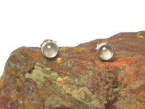 Rose  QUARTZ  Sterling Silver 925 Gemstone Earrings / STUDS - 5 mm - Gift Boxed