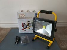 LED Flood Light 30W 2700 LM 12V Rechargeable Portable Worklight EUC