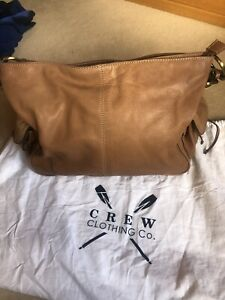 Crew Clothing 100% Leather Handbag With Dustbag