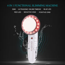 6 In 1 EMS LED Ion Facial Beauty Machine Ultrasonic Body Slimming Anti Cellulite
