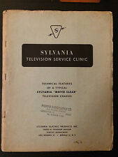 Early 1951 Sylvania Television Set Service Manual