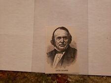 Louis Agassiz 1893 Harper's Weekly Woodcut RARE!