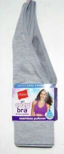 HANES Get Cozy Bra Seamless Pullover  MHG19F  Grey or Blue  Limited Sizes