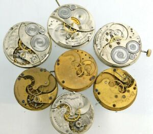 Elgin Pocket watch movement lot for parts lot b536