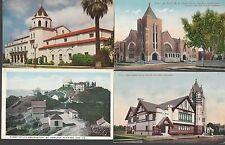 LOT of 4 SAN JOSE California Cards~Auditorium/Observatory/Churches