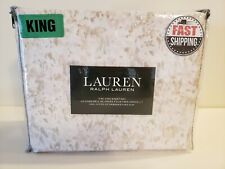 Ralph Lauren King Sheet Set 4Pc Watercolor Print Brand New 100% Cotton