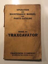 Caterpillar Trackson T4 Traxcavator Operator Maintenance & Parts Manual Book CAT