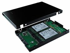 SATA III to mSATA SSD x 2 RAID Card with 2.5 Inch 9.5 MM Drive Housing