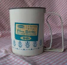 Vintage Androck Flour Sifter - 3 cup blue wheat design