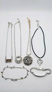 Brighton Silver Tone Fashion 6pc Jewelry Lot 134.44g MRJ977